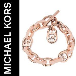 NWT Michael Kors Fulton Toggle Link Bracelet